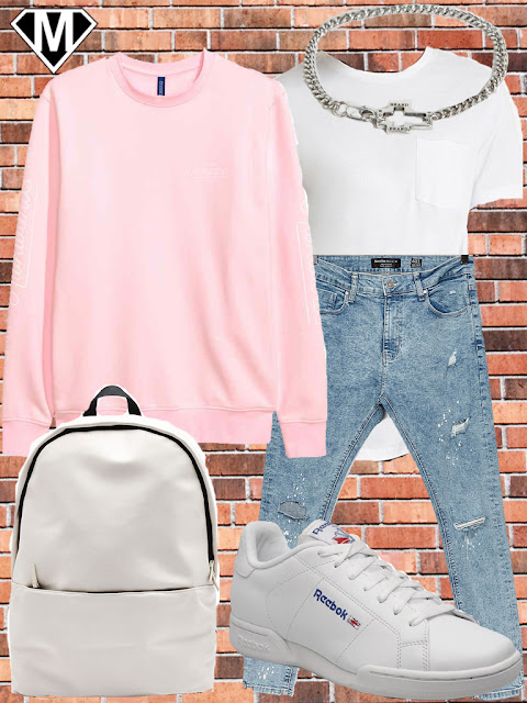 streetwear pink outfit