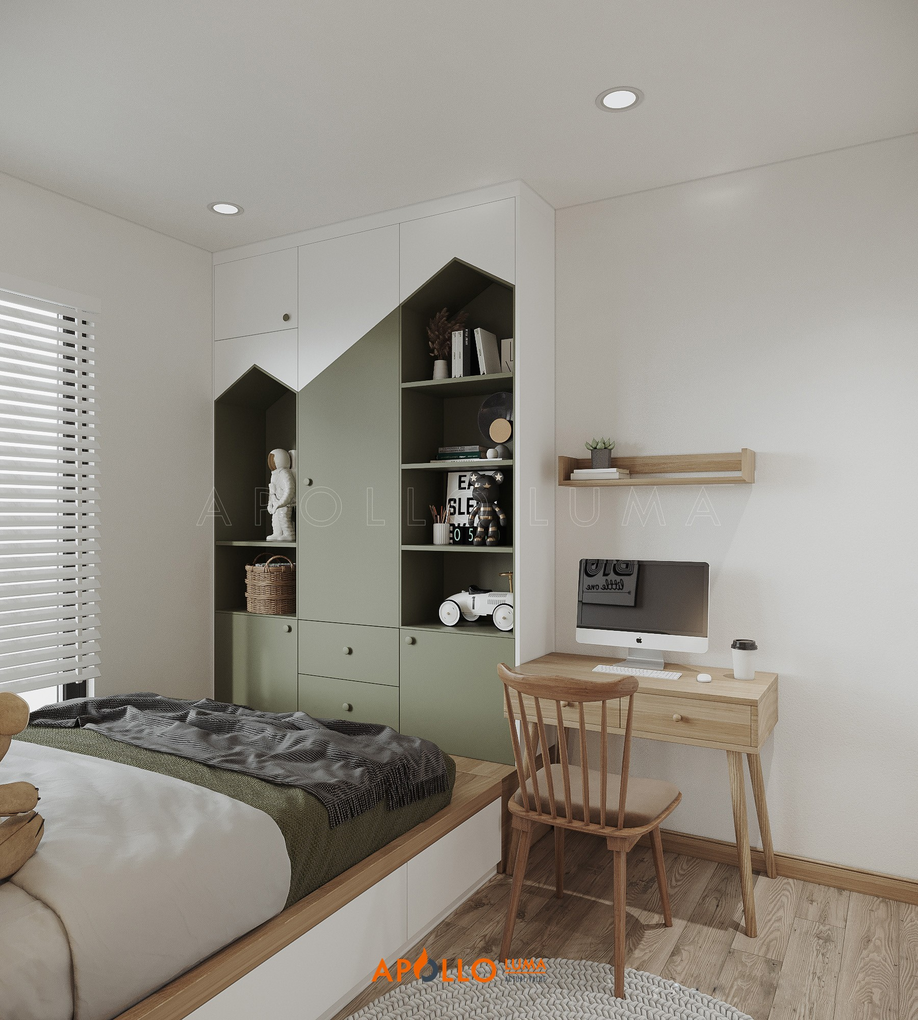 Thiết kế nội thất căn 2 phòng ngủ (B2.05) Phương Đông Green Park
