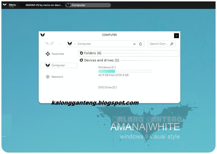 AMANA|WHITE visual style untuk windows 8.1