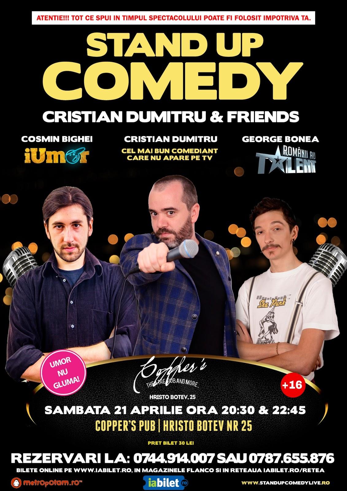 Stand-Up Comedy Sambata Bucuresti 21 Aprilie