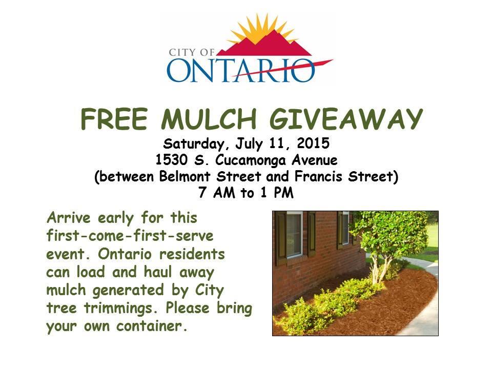 free mulch giveaway this saturday sacramento