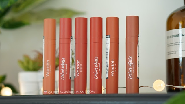 Wardah Earthy Collection Velvet Matte Lip Mousse Punya 6 Shades Baru - ririeprams