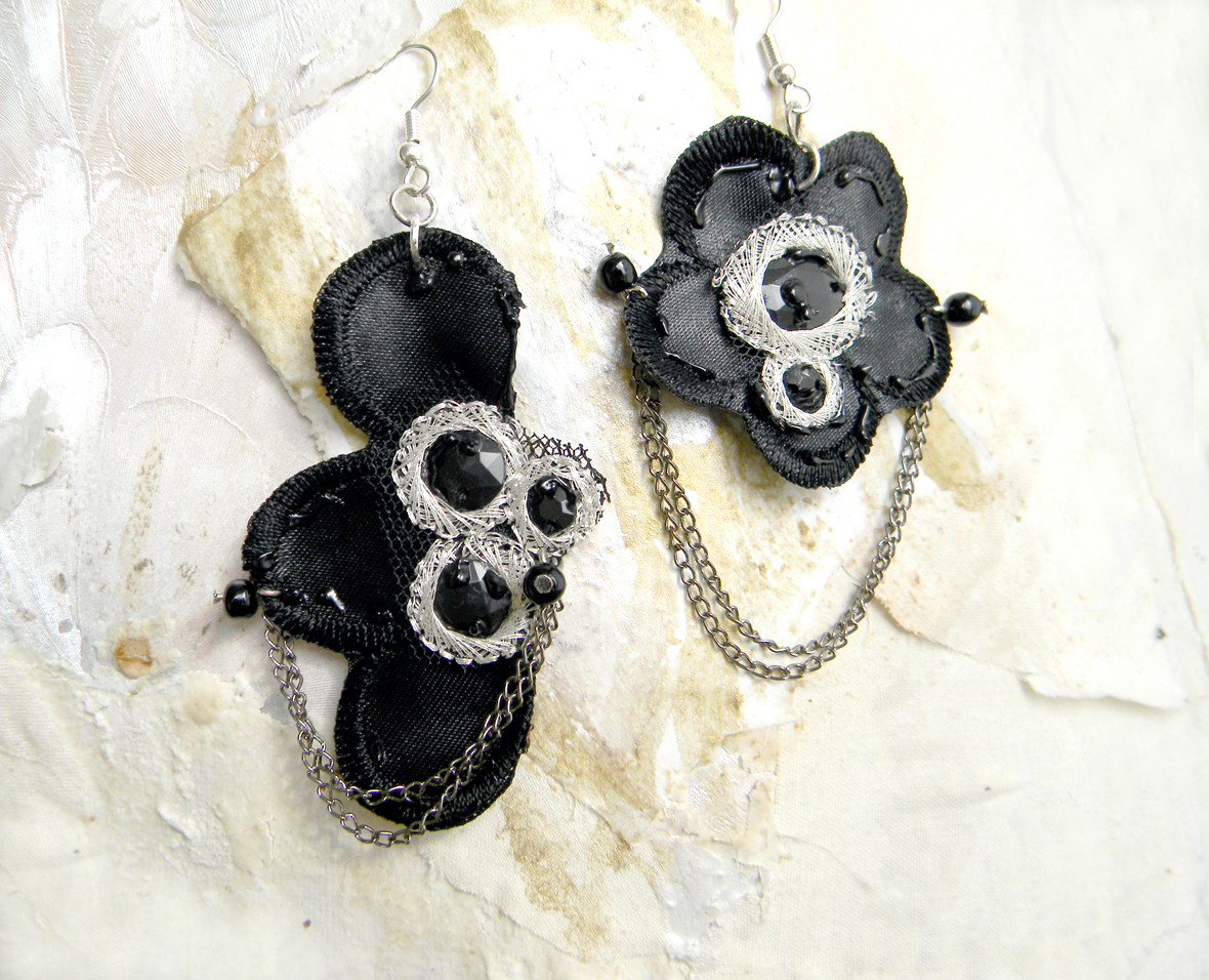 Unique Handmade Earrings Uniuqe Jewelry Fashion Earrings Handcrafted Jewelry Gothic Earrings