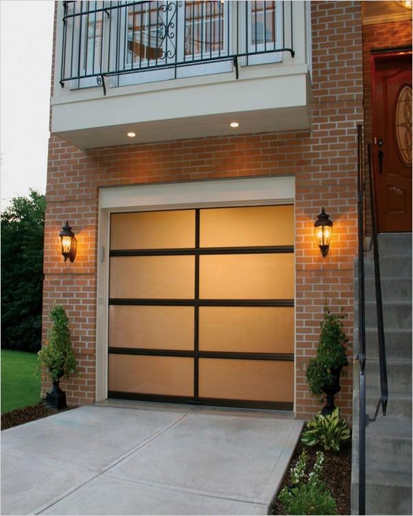 Glass GARAGE Doors Cost Home Interior Exterior Decor & Design Ideas