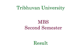 MBS Second Semester Result Tribhuvan University