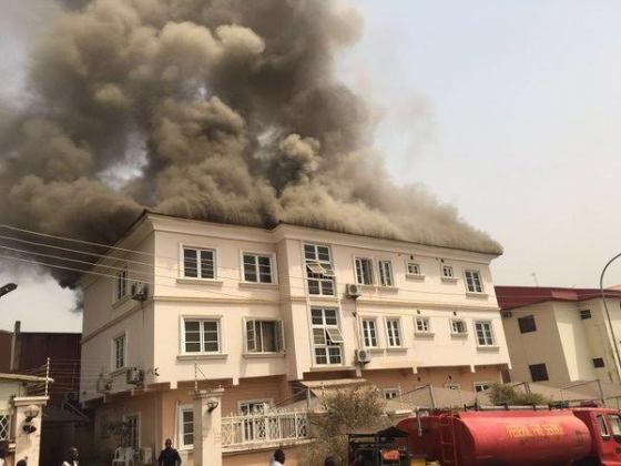 Fire guts SURE-P office in Abuja [PHOTOS]