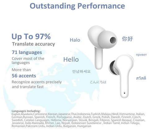 Goldencivetcat M6 Instant Language Translator Earbuds