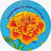 Mari the Marigold (Orange), Responsible for What I Say and Do Petal
