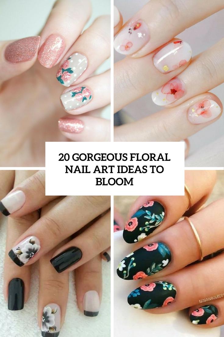Half-floral nail art