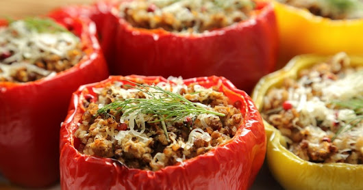Stuffed Peppers ~ Recipes by Nana