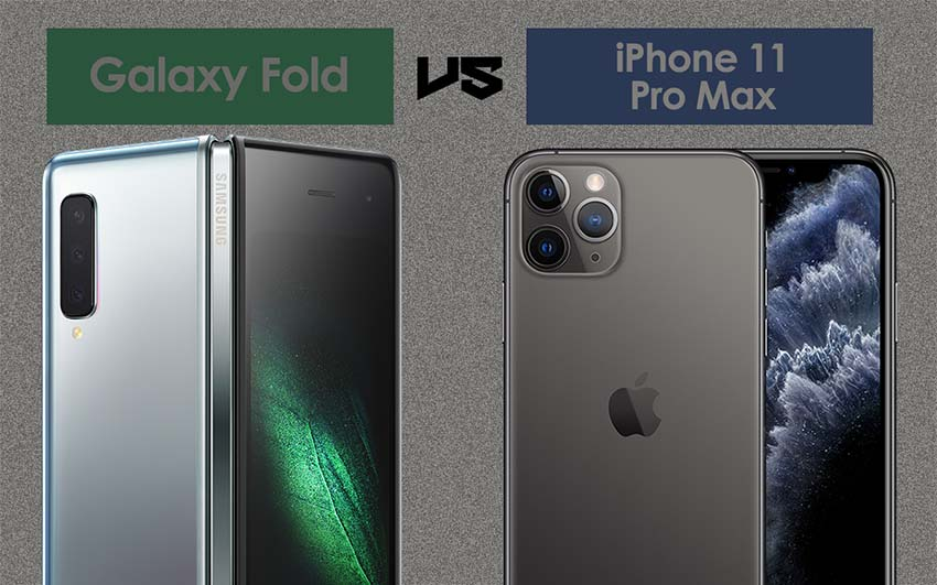 Samsung Galaxy Fold vs iPhone 11 Pro Max