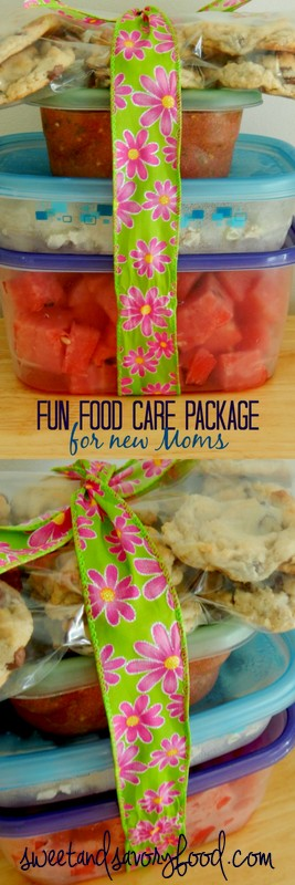 fun food care package for new moms (sweetandsavoryfood.com)