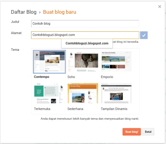 Cara Membuat Blog di Blogger.com Langkah A sampai Z