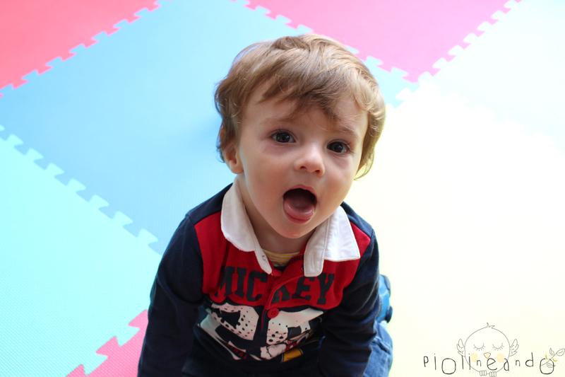13 meses Baby Piolin + leche con cereales