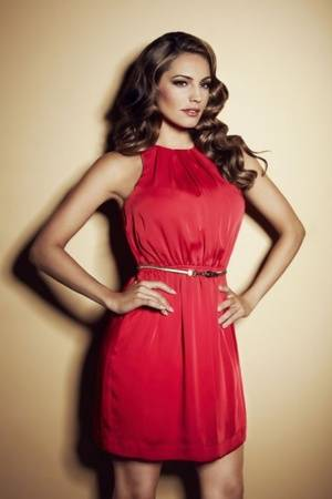 Kelly Brook Models Party Dresses For New Look