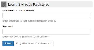 GATE Admit card 2021 Download Login page