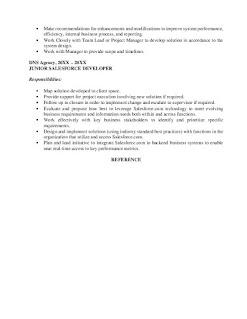 Senior Salesforce Developer Resume