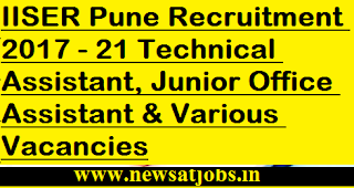 IISER-Pune-jobs-21-Technical-Assistant-Junior-Office-Assistant-Vacancies