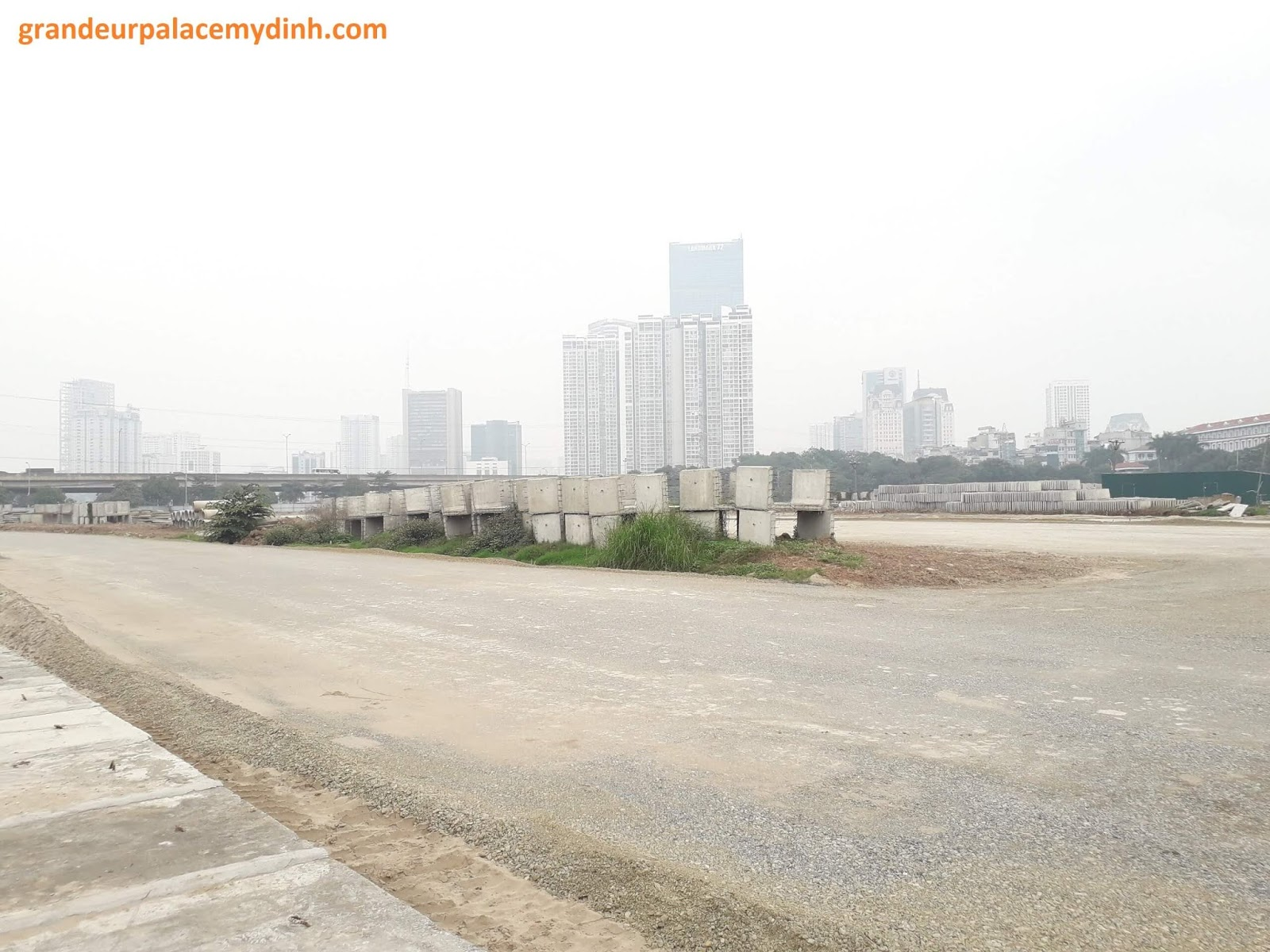Tiến độ đường Trần Hữu Dực kéo dài tháng 3 năm 2020.