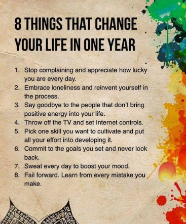 Top Best 8+ steps change your life within one year by follow these