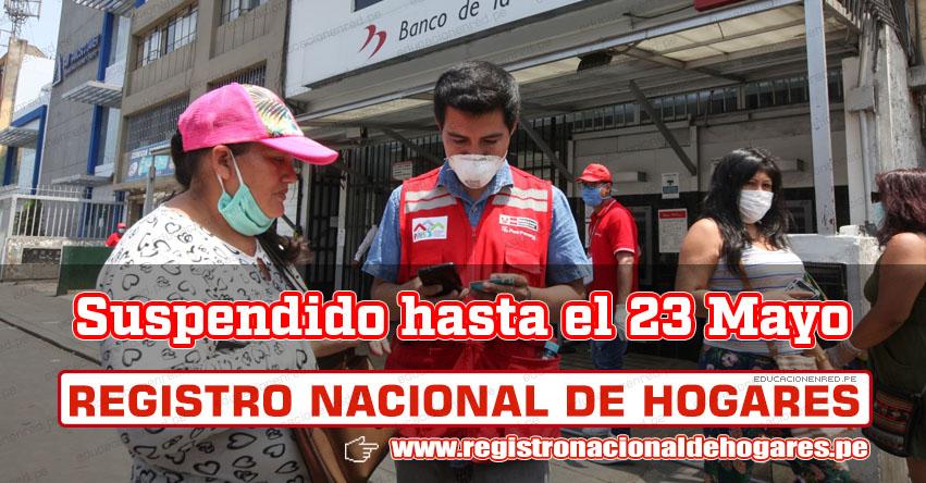 RENIEC suspende plataforma de Registro Nacional de Hogares hasta el sábado 23 de Mayo