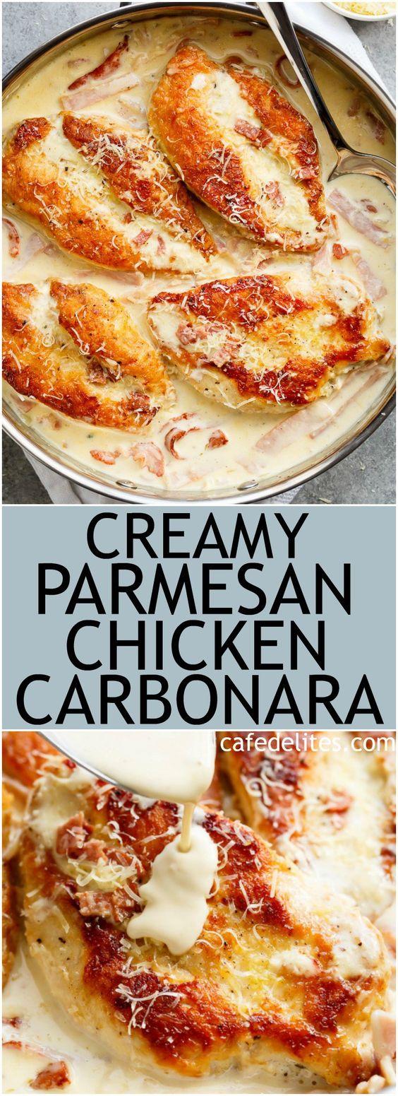 Creamy Parmesan Carbonara Chicken