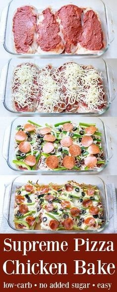 Supreme Pizza Chicken Bake Recipe Low Carb
