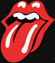 Logo de Rolling Stones con los labios y la lengua roja