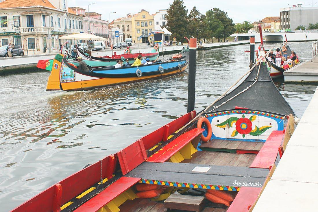 Aveiro canales y recorridos en moliceiros