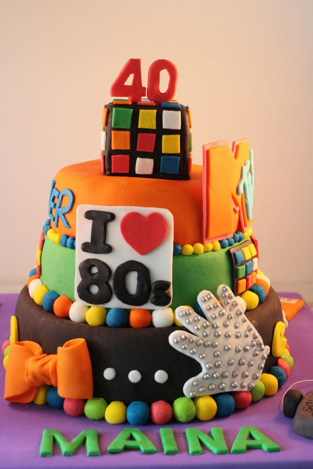 i-love-80, tarta-fondant-i-love-80