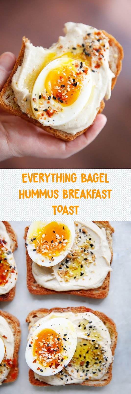 Everything Bagel Hummus Breakfast Toast