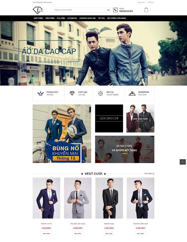 FashionShop blogspot template