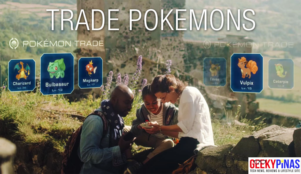Pokemon Players Trade in Pokemon GO