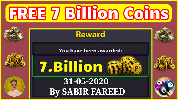 FREE 8 Ball Pool 7 Billion Coins Accounts Giveaway || By SABIR FAREED