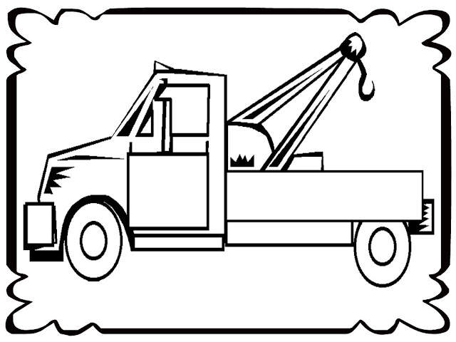 tow truck coloring pages