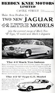 Hebden Knee Motors Limited Jaguar advert 1966