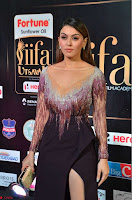 Hansika Motwani in Glittering Deep Neck Transparent Leg Split Purple Gown at IIFA Utsavam Awards 27.JPG
