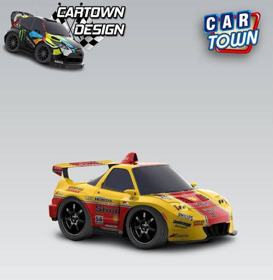 Honda NSX RR 2009 - Shell - Cartown templates and skins at ...