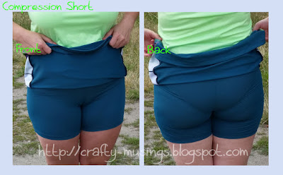 J2796, front and back view of the shorts