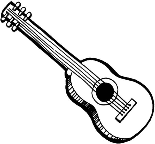 Gambar Mewarnai Gitar - 4