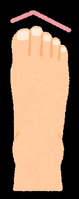 つま先の形のイラスト(ギリシャ型)