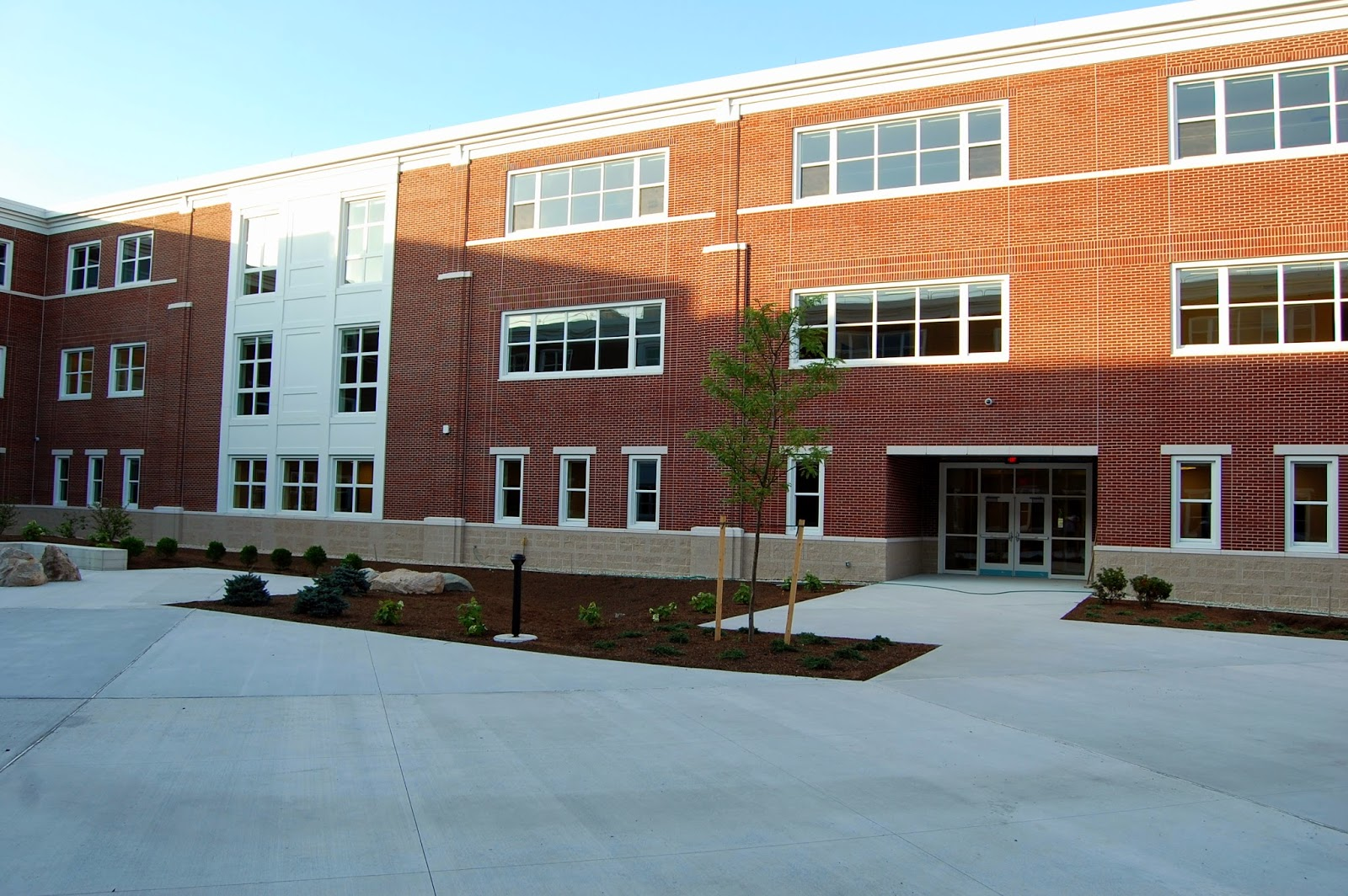 the interior courtyard of the new FHS