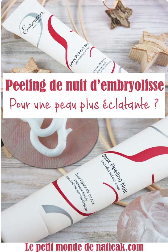 impression sur le peeling Embryolisse