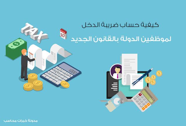 كيفية حساب ضريبة الدخل لموظفي %D9%83%D9%8A%D9%81%D