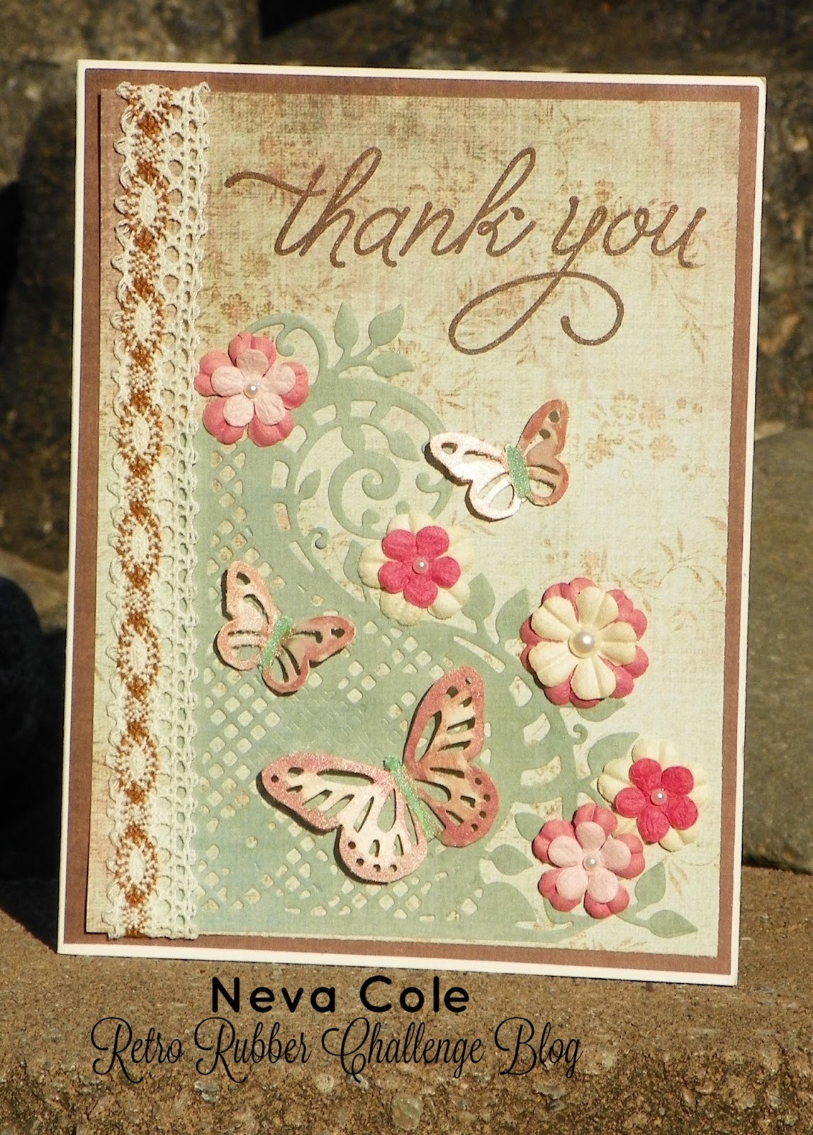 finding snippets of time to craft vintage style thank you card for