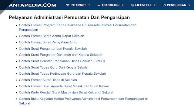 Kumpulan Contoh Format Pelayanan Administrasi Persuratan Dan Pengarsipan