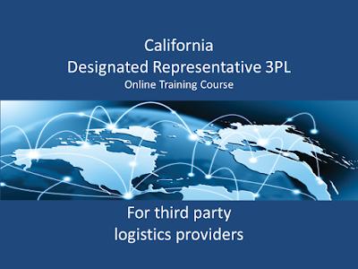 California Board of Pharmacy Designated Representative 3PL Training Course - presented by SkillsPlus International Inc. - $525 per student. Board Approved.