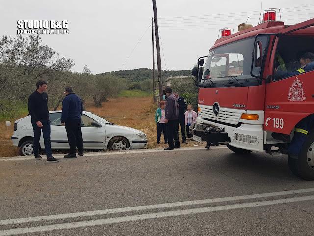 Εκτροπή αυτοκινήτου στο Ναύπλιο με τραυματισμό του οδηγού