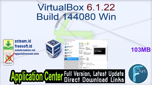 VirtualBox 6.1.22 Build 144080 Win