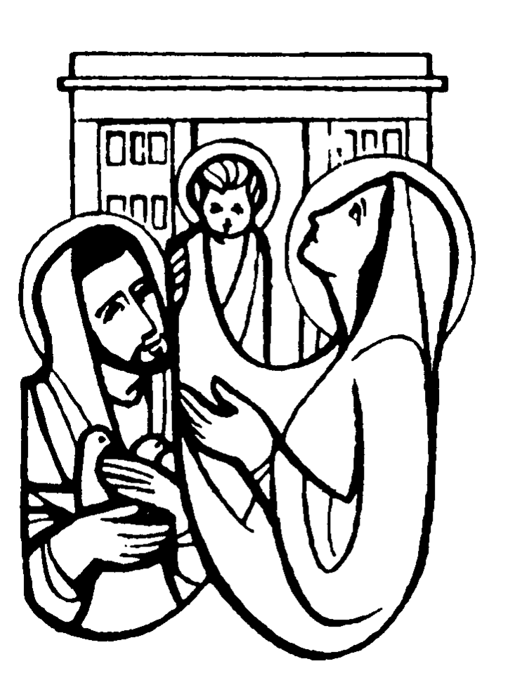 The Presentation of Jesus at the Temple Coloring Pages